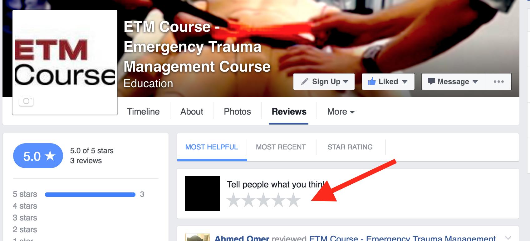 ETM Facebook review